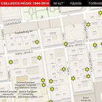 Budapest Yellow-Star Houses map