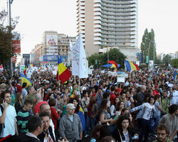 Photo: Protest against the Rosia Montana Gold Mine Project in Bucharest, Romania