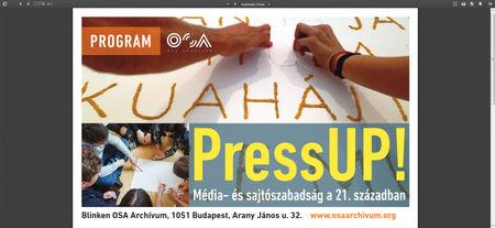 Elindult a PressUP! Média- és sajtószabadság a 21. században program
