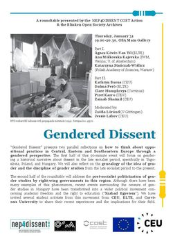 Gendered Dissent – Roundtable, January 31, 2019